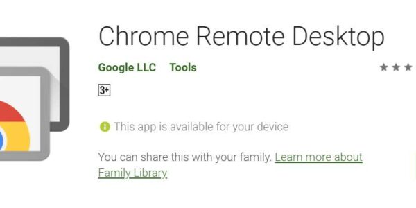 A screenshot of Google Remote Desktop