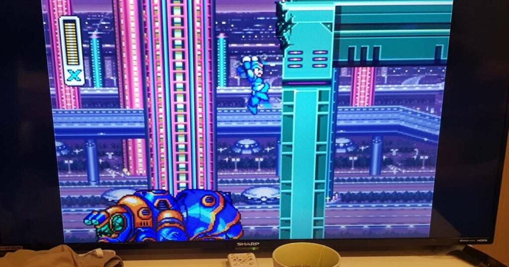 A picture of Megaman X running Chromecast with Google TV