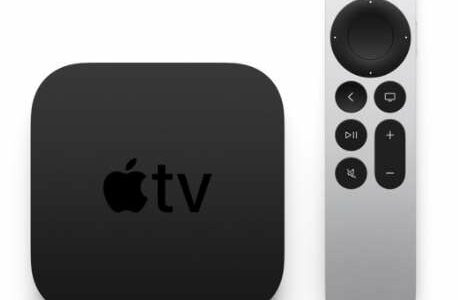 Picture of an Apple TV and remote